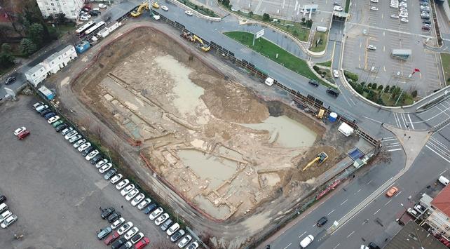 Kadıköyde otel inşaatından 2 bin yıllık tarih çıktı