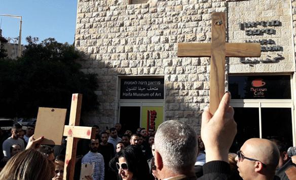 İsrailde Hazreti İsa ile dalga geçen sergi Hristiyanları öfkelendirdi