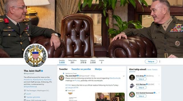 ABD Genelkurmay'ı Güler-Dunford görüşmesini kapak fotoğrafı yaptı