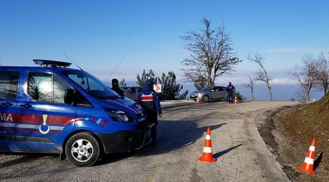 Spil Dağı Milli Parkı yolu ulaşıma kapandı