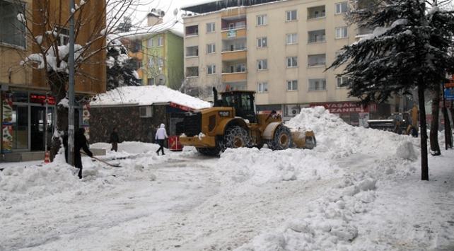 Bingöl kent merkezinden 5 günde 650 kamyon kar taşındı