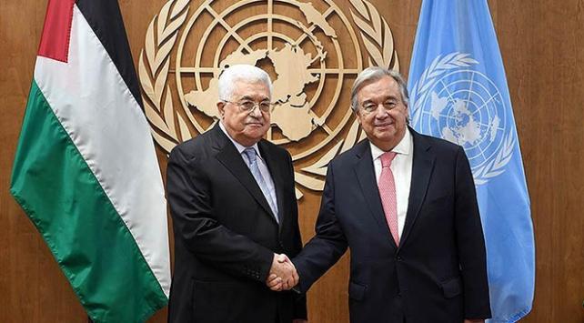 Filistin Devlet Başkanı Abbas, BM Genel Sekreteri Guterres ile görüştü
