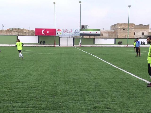 El Bab'da yeniden futbol coşkusu yaşanıyor