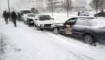 Konyada yollar buz pistine döndü birçok araç kaza yaptı