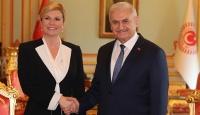 TBMM Başkanı Yıldırım, Hırvatistan Cumhurbaşkanı Kitaroviç'le görüştü