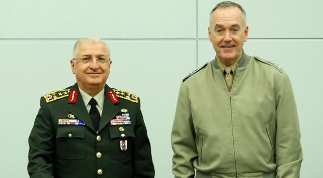 Genelkurmay Başkanı Güler ile Dunford Brükselde bir araya geldi