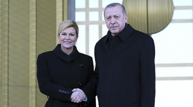 Cumhurbaşkanı Erdoğan, Kitaroviçi resmi törenle karşıladı