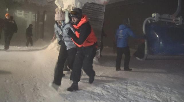 Bursa Uludağda telesiyej arızası: 11 kişi kurtarıldı
