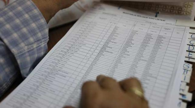 Seçmen listeleri bugün askıdan iniyor